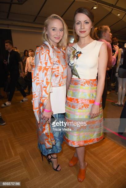 German actress Anna Maria Muehe and german actress Alice Dwyer attend the BIDI BADU by Kilian Kerner Presentation at Ellington Hotel on March 28 2017...