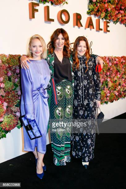 German actress Anna Maria Muehe German actress Iris Berben and German actress Hannah Herzsprung attend the Florale By Triumph Dinner Hosted By...
