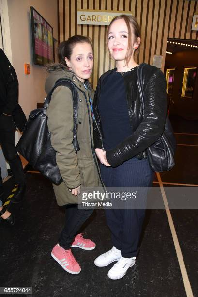 German actress Anna Thalbach and her daughter Nellie Thalbach attend the premiere of the film 'Tiger Girl' at Zoo Palast on March 20 2017 in Berlin...