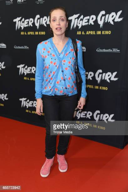 German actress Anna Thalbach attends the premiere of the film 'Tiger Girl' at Zoo Palast on March 20 2017 in Berlin Germany