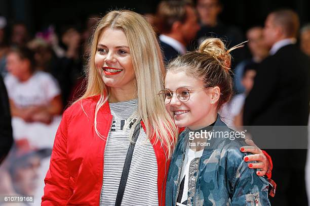 German actress AnneSophie Briest and her daughter Faye Montana attend the 'Unsere Zeit ist jetzt' World Premiere at CineStar on September 27 2016 in...