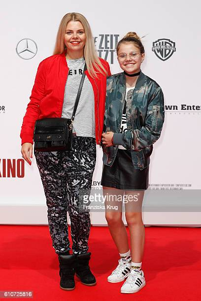 German actress AnneSophie Briest and her daughter Faye Montana attend the german premiere 'Unsere Zeit ist jetzt' at CineStar on September 27 2016 in...