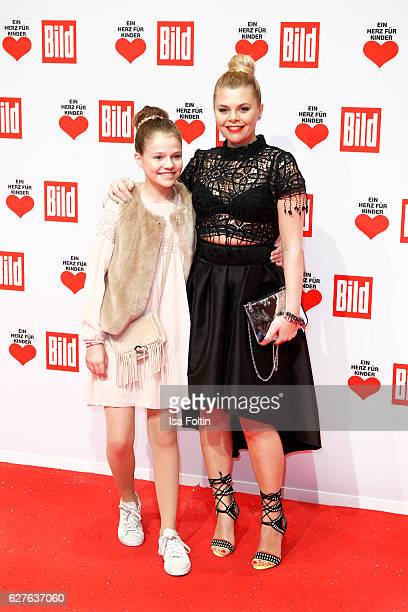 German actress AnneSophie Briest and her daughter youtube star Faye Montana attend the Ein Herz Fuer Kinder gala on December 3 2016 in Berlin Germany