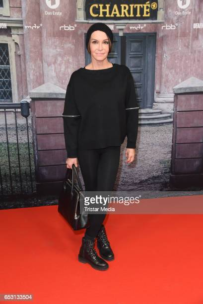 German actress Anouschka Renzi attends the 'Charite' Berlin Premiere on March 13 2017 in Berlin Germany