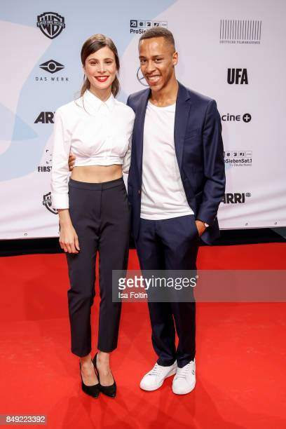 German actress Aylin Tezel and German actor Jerry Hoffmann attend the First Steps Awards 2017 at Stage Theater on September 18 2017 in Berlin Germany