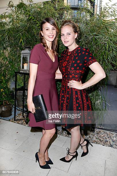 German actress Aylin Tezel and german actress Alicia von Rittberg attend the First Steps Awards 2016 at Stage Theater on September 19 2016 in Berlin...