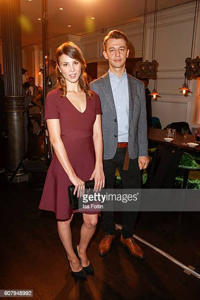 German actress Aylin Tezel and producer Igor Plischke attend the First Steps Awards 2016 at Stage Theater on September 19 2016 in Berlin Germany