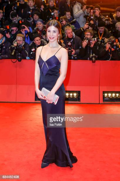 German actress Aylin Tezel attends the 'Django' premiere during the 67th Berlinale International Film Festival Berlin at Berlinale Palace on February...