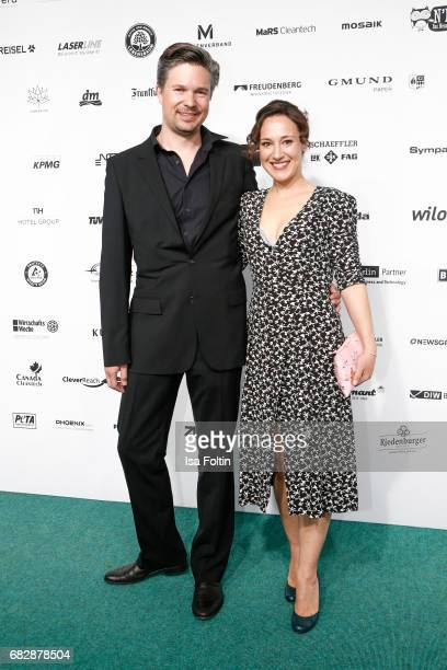 German actress Baerbel Stolz and her husband Sebastian Stolz attend the GreenTec Awards at ewerk on May 12 2017 in Berlin Germany