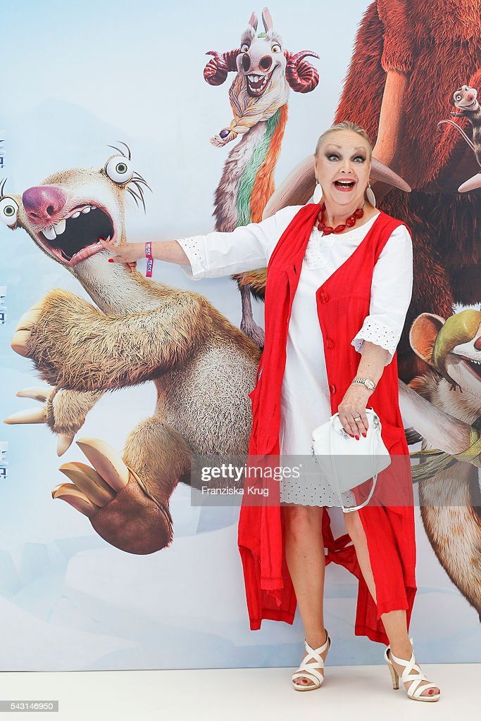 German actress Barbara Schoene attends the 'Ice Age - Kollision Voraus' German Premiere at CineStar on June 26, 2016 in Berlin, Germany.