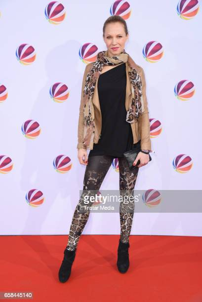 German actress Birte Glang attends the photo call for the television film 'Nackt Das Netz vergisst nie' at Astor Film Lounge on March 27 2017 in...