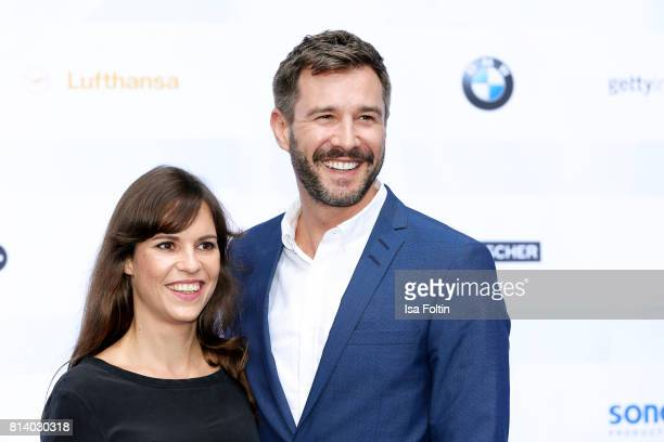German actress Birthe Wolter and German presenter Jochen Schropp attend the summer party 2017 of the German Producers Alliance on July 12 2017 in...