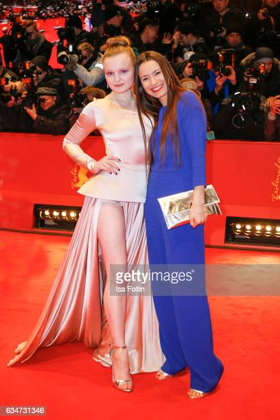 German actress Bjarne Maedel and german actress Maria Dragus attend the 'Django' premiere during the 67th Berlinale International Film Festival...