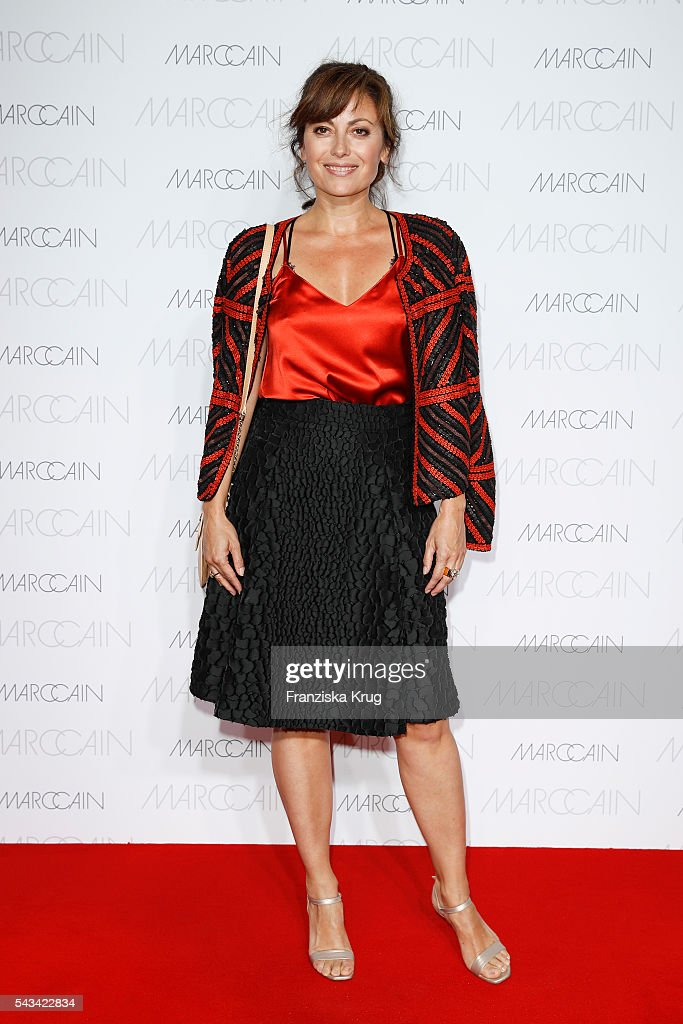German actress Carolina Vera attends the Marc Cain fashion show spring/summer 2017 at CITY CUBE Panorama Bar on June 28, 2016 in Berlin, Germany.