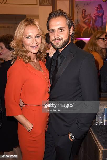 German actress Caroline Beil and her boyfriend Philipp Sattler attend the Klassik Echo 2016 on October 9 2016 in Berlin Germany
