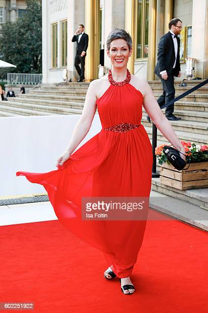 German actress Cheryl Shepard attends the Leipzig Opera Ball 2016 on September 10 2016 in Leipzig Germany