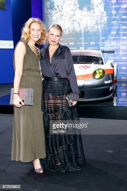 German actress Chiara Schoras and German presenter Nova Meierhenrich arrive for the GQ Men of the year Award 2017 at Komische Oper on November 9 2017...
