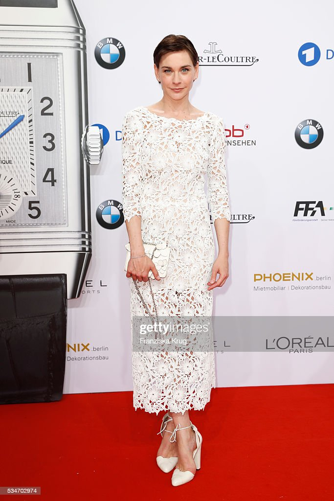 German actress <a gi-track='captionPersonalityLinkClicked' href=/galleries/search?phrase=Christiane+Paul&family=editorial&specificpeople=220598 ng-click='$event.stopPropagation()'>Christiane Paul</a> during the Lola German Film Award (Deutscher Filmpreis) 2016 on May 27, 2016 in Berlin, Germany.