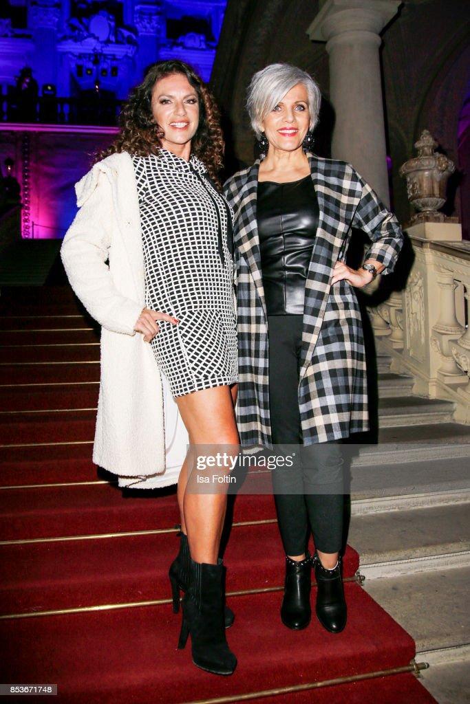 German actress Christine Neubauer and German presenter Birgit Schrowange during the Minx Fashion Night in favour of 'Sauti Kuu' of Auma Obama at Wuerzburger Residenz on September 23, 2017 in Wuerzburg, Germany.