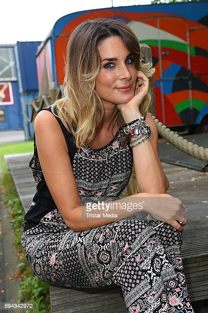 German actress Claudelle Deckert during the Daily Soap 'Unter uns' Summer Event Fan Meeting on August 22 2016 in Cologne Germany