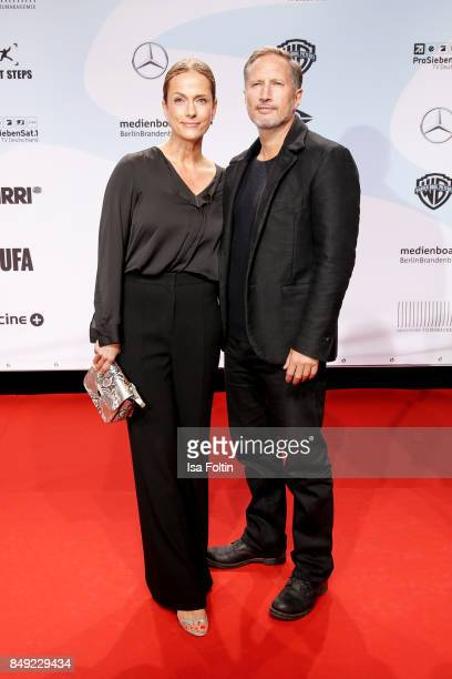 German actress Claudia Michelsen and German actor Benno Fuermann attend the First Steps Awards 2017 at Stage Theater on September 18 2017 in Berlin...
