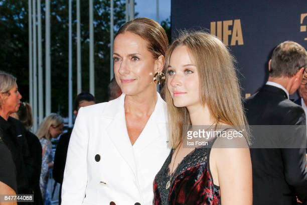 German actress Claudia Michelsen and German actress Sonja Gerhardt attend the UFA 100th anniversary celebration at Palais am Funkturm on September 15...