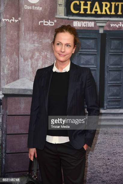 German actress Claudia Michelsen attends the 'Charite' Berlin Premiere on March 13 2017 in Berlin Germany