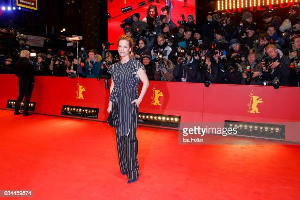German actress Claudia Michelsen attends the 'Django' premiere during the 67th Berlinale International Film Festival Berlin at Berlinale Palace on...