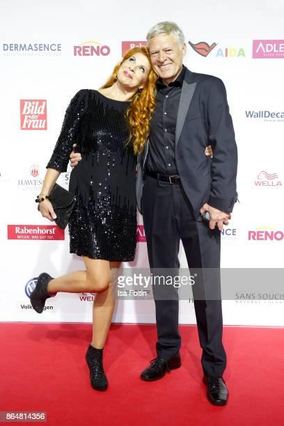 German actress Claudia Wenzel and her husband German actor Ruediger Joswig attend the 'Goldene Bild der Frau' award at Hamburg Cruise Center on...