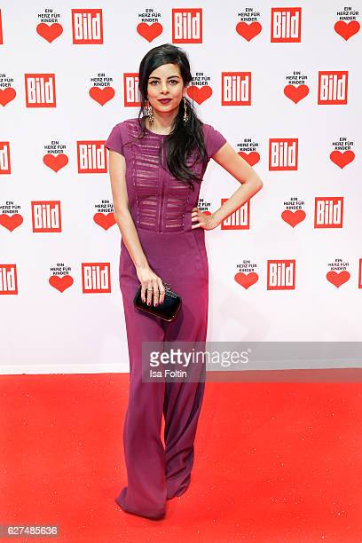 German actress Collien UlmenFernandes attends the Ein Herz Fuer Kinder gala on December 3 2016 in Berlin Germany