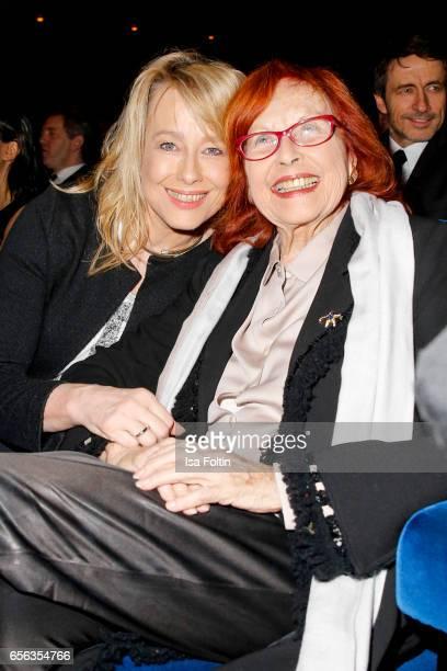 German actress Debora Weigert and her mother german actress and producer Brigitte Grothum attend the Deutscher Hoerfilmpreis at Kino International on...