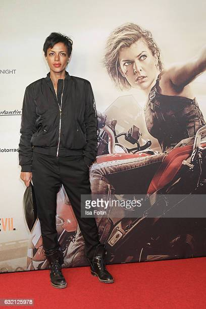German actress Dennenesch Zoude attends the Social Movie Night At 'Resident Evil The Final Chapter' premiere at CineStar on January 19 2017 in Berlin...