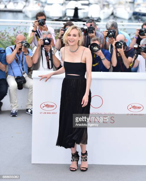 German actress Diane Kruger poses during a photocall for the film Aus dem Nichts in the competition at the 70th annual Cannes Film Festival in Cannes...