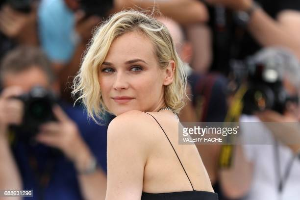 TOPSHOT German actress Diane Kruger poses on May 26 2017 during a photocall for the film 'In the Fade' at the 70th edition of the Cannes Film...
