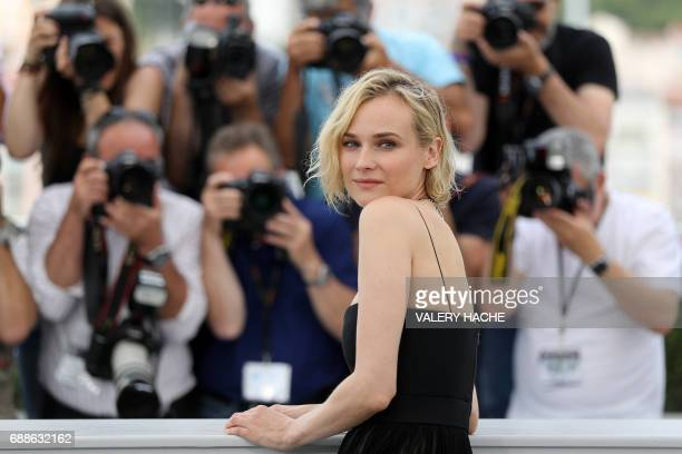 German actress Diane Kruger poses on May 26 2017 during a photocall for the film 'In the Fade' at the 70th edition of the Cannes Film Festival in...