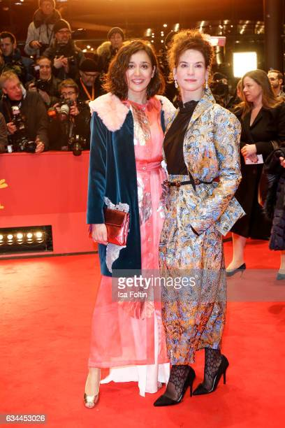 German actress Dorka Gryllus and german actress Bibiana Beglau attend the 'Django' premiere during the 67th Berlinale International Film Festival...