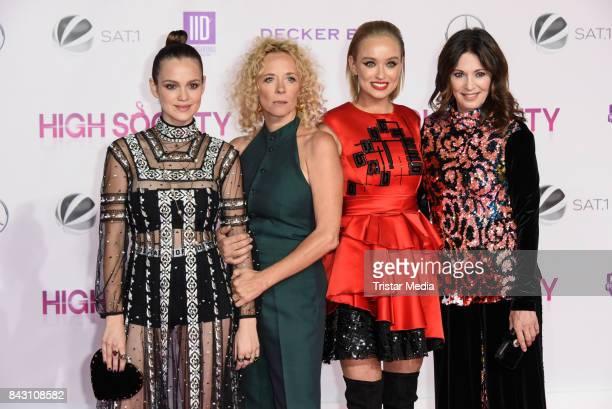 German actress Emilia Schuele German actress Katja Riemann German actress Caro Cult and German actress Iris Berben attend the 'High Society' Premiere...