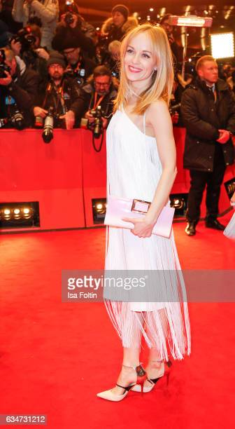German actress Friederike Kempter attends the 'Django' premiere during the 67th Berlinale International Film Festival Berlin at Berlinale Palace on...
