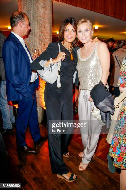 German actress Gerit Kling and German actress Dana Golombek during the summer party 2017 of the German Producers Alliance on July 12 2017 in Berlin...