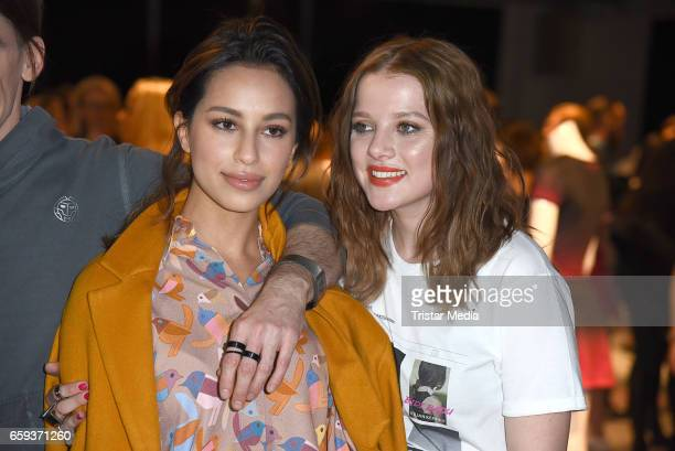 German actress Gizem Emre and german actress Jella Haase attend the BIDI BADU by Kilian Kerner Presentation at Ellington Hotel on March 28 2017 in...