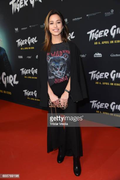 German actress Gizem Emre attends the premiere of the film 'Tiger Girl' at Zoo Palast on March 20 2017 in Berlin Germany
