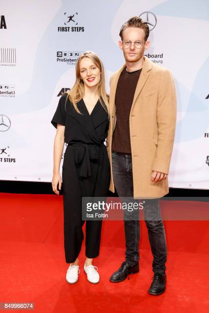 German actress Hanna Hilsdorf and German actor Patrick Gueldenberg attend the First Steps Awards 2017 at Stage Theater on September 18 2017 in Berlin...