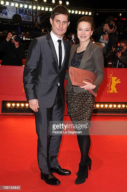 German actress Hannah Herzsprung and German actor Clemens Schick attend the 'The Future' Premiere during day six of the 61st Berlin International...