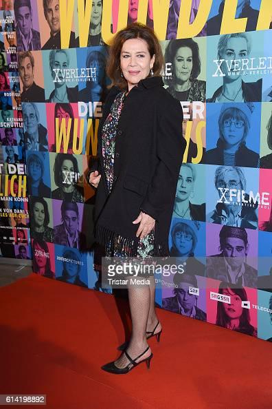 German actress Hannelore Elsner attends the Berlin premiere of the film 'Die Welt der Wunderlichs' at Kant Kino on October 12 2016 in Berlin Germany
