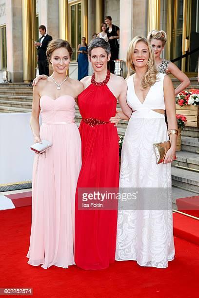 German actress Hedi Honert german actress Cheryl Shepard and german actress Laura Preiss attend the Leipzig Opera Ball 2016 on September 10 2016 in...