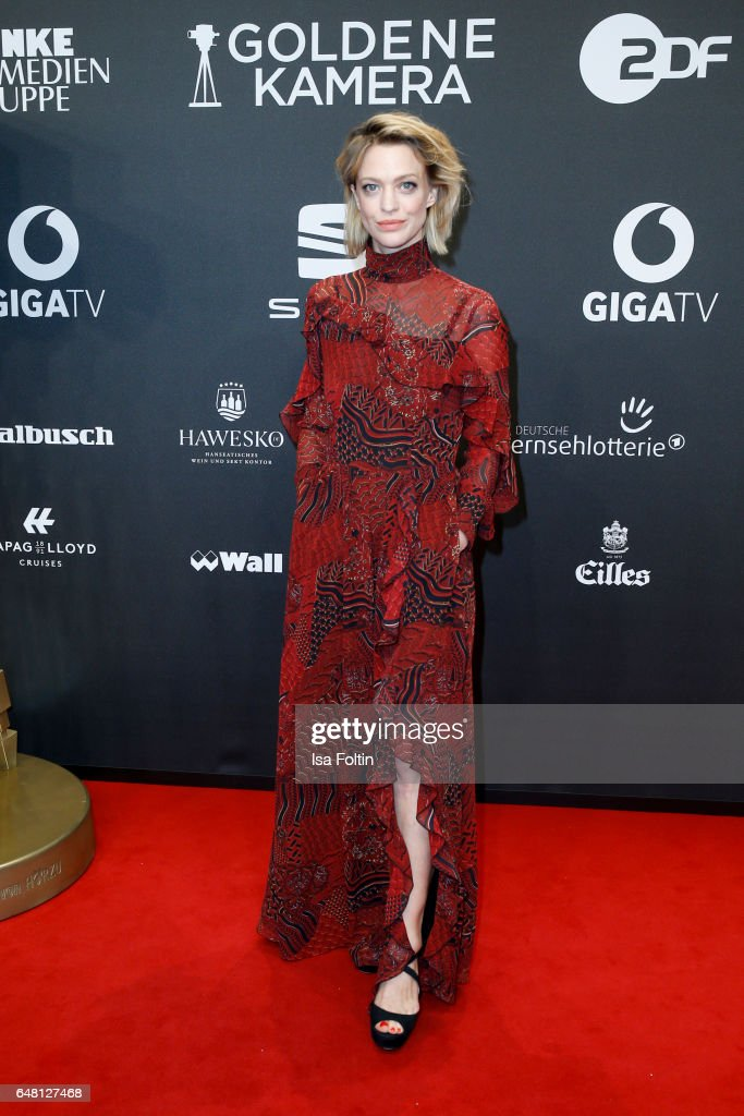 German actress Heike Makatsch arrives for the Goldene Kamera on March 4, 2017 in Hamburg, Germany.