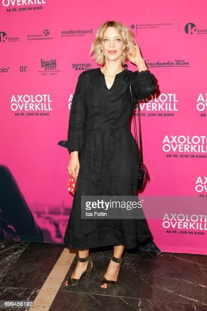 German actress Heike Makatsch attends the 'Axolotl Overkill' Berlin Premiere at Volksbuehne RosaLuxemburgPlatz on June 21 2017 in Berlin Germany