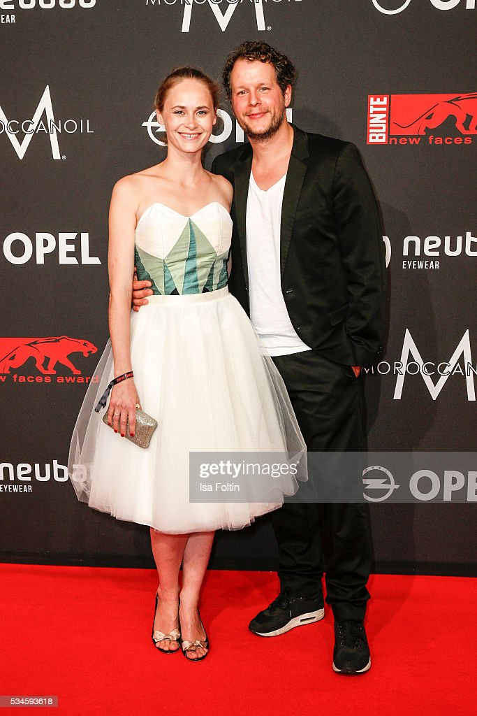 German actress Inez Bjoerg David and her boyfriend Mirko Lang attend the New Faces Award Film 2016 at ewerk on May 26, 2016 in Berlin, Germany.
