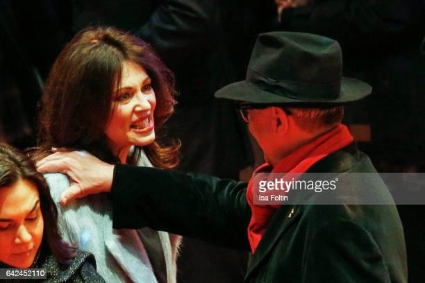 German actress Iris Berben and Dieter Kosslick attend the 'Logan' premiere during the 67th Berlinale International Film Festival Berlin at Berlinale...