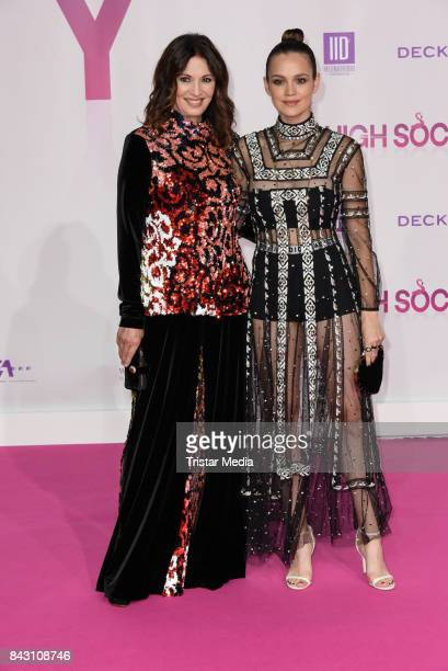 German actress Iris Berben and German actress Emilia Schuele attend the 'High Society' Premiere at CineStar on September 5 2017 in Berlin Germany